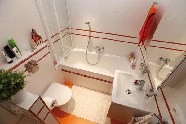 Дизайн ванной комнаты маленького размера фото 1