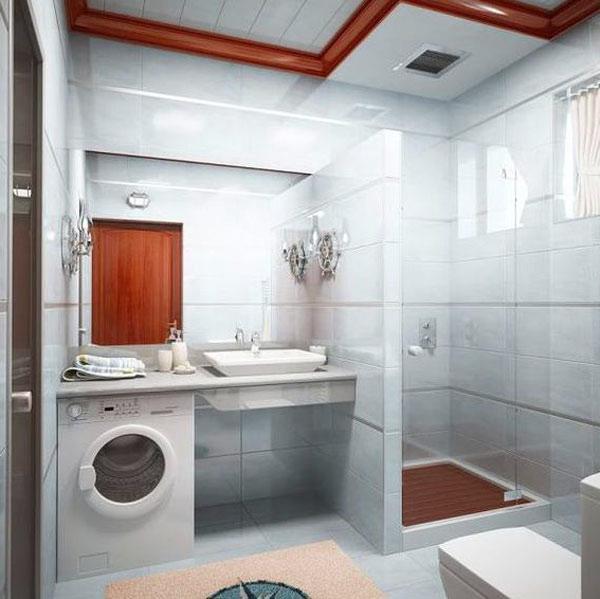 Дизайн ванной комнаты маленького размера фото 3