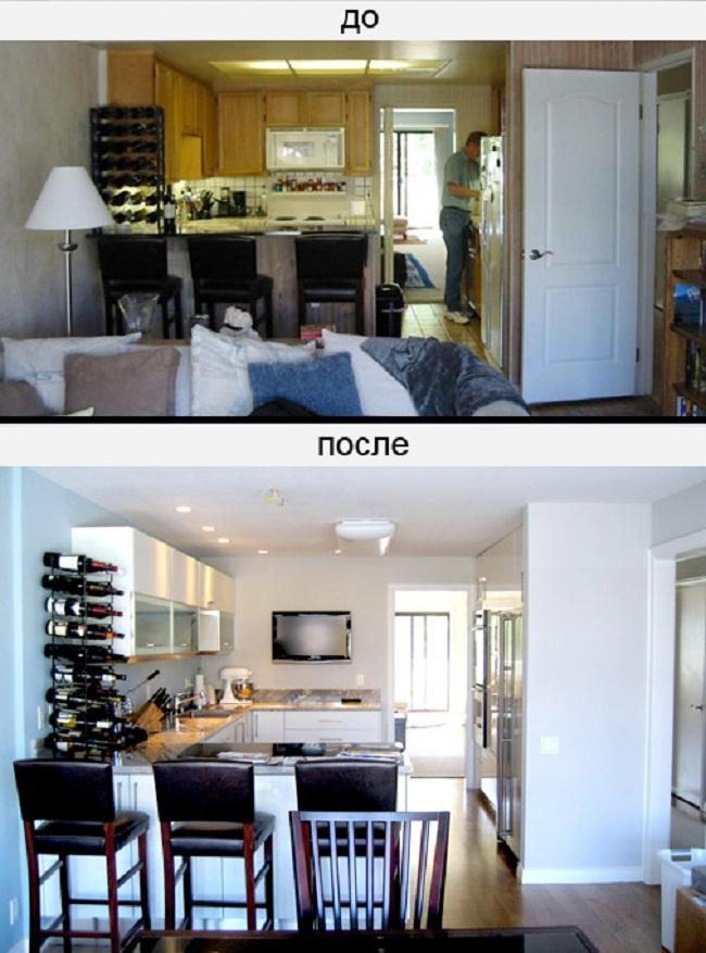 Дизайн комнаты до и после фото