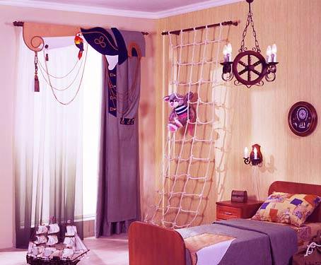 Дизайн штор для детской
