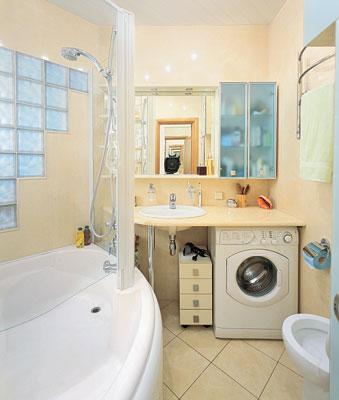Дизайн ванной комнаты в хрущевке фото стены из стеклокирпича