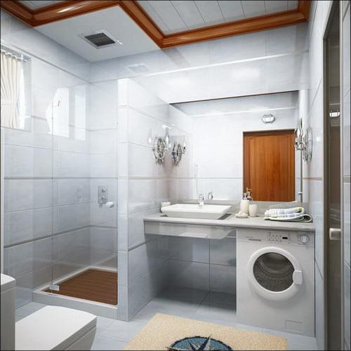 Дизайн ванной комнаты в хрущевке фото со стиральной машиной