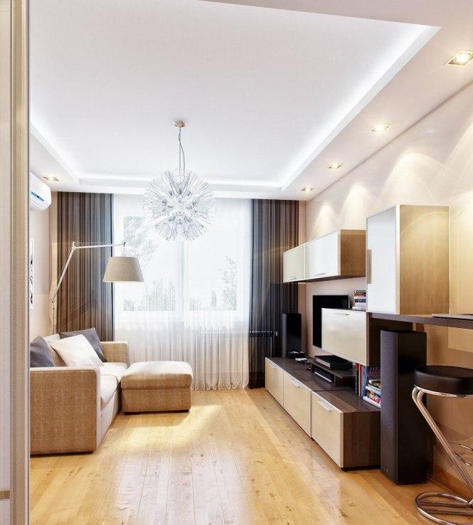 Дизайн гостиной маленькой