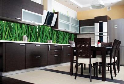 Фотообои в интерьере кухни.