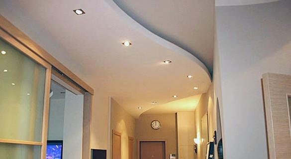 Дизайн коридора и прихожей. Навесные потолки