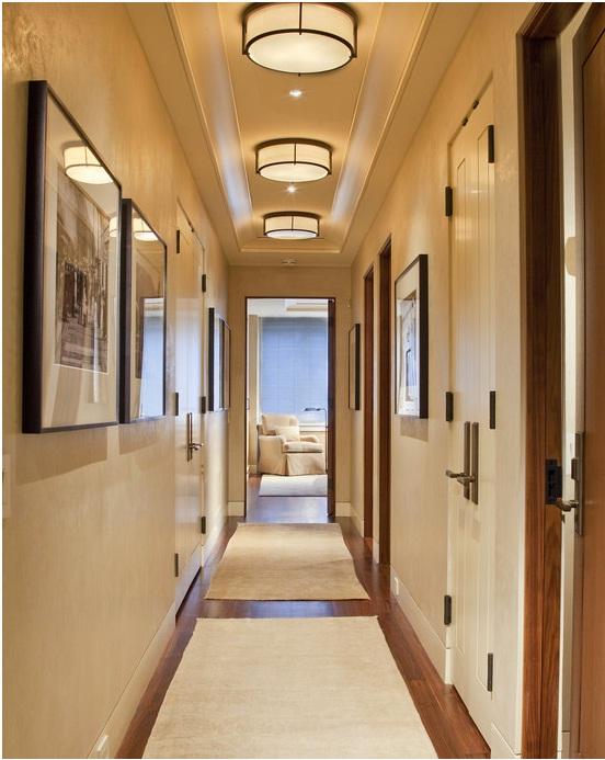 Дизайн коридора и прихожей. Освещение
