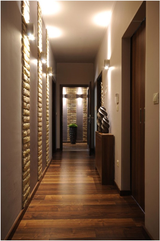 Дизайн коридора и прихожей. Паркетная доска