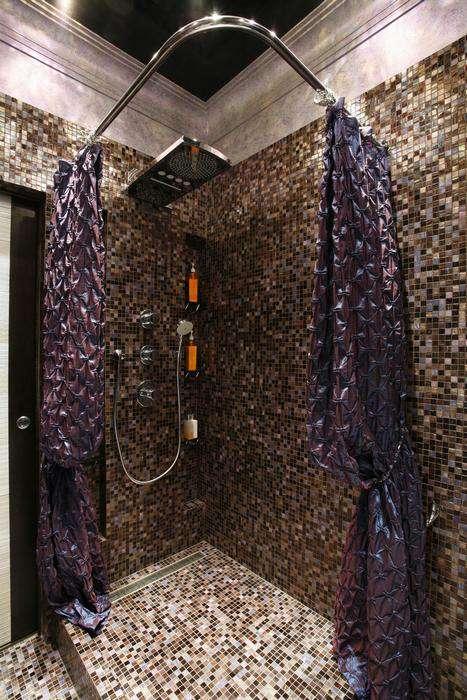 душевая без стенок в ванной комнате