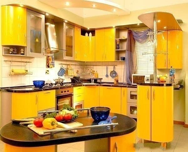 дизайн кухни 9 кв м фото №5