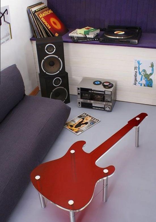 Дизайн комнаты для подростка мальчика в стиле РОК 5