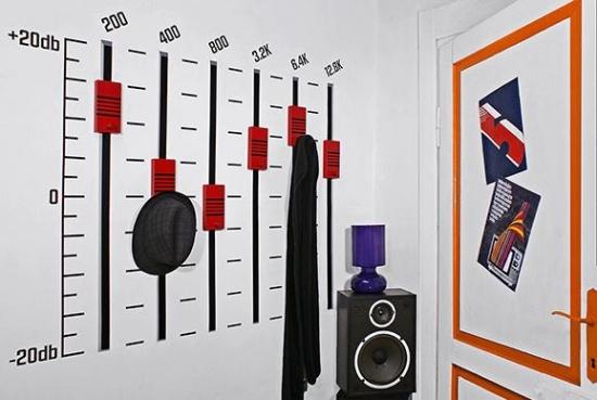 Дизайн комнаты для подростка мальчика в стиле РОК 7