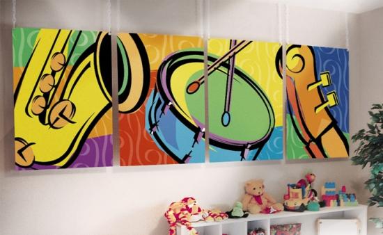 Дизайн комнаты для подростка мальчика в стиле РОК 8