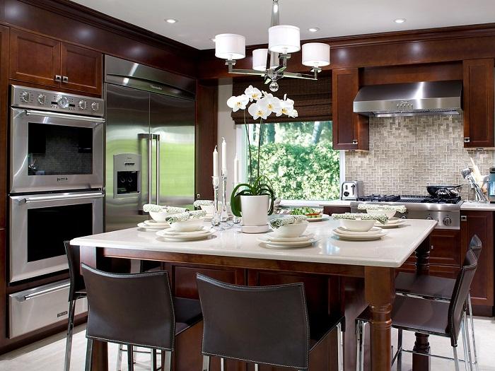 Дизайн кухни. фотоДизайн строгая классика