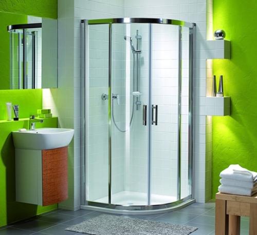 Дизайн ванной комнаты с душевой кабиной 1
