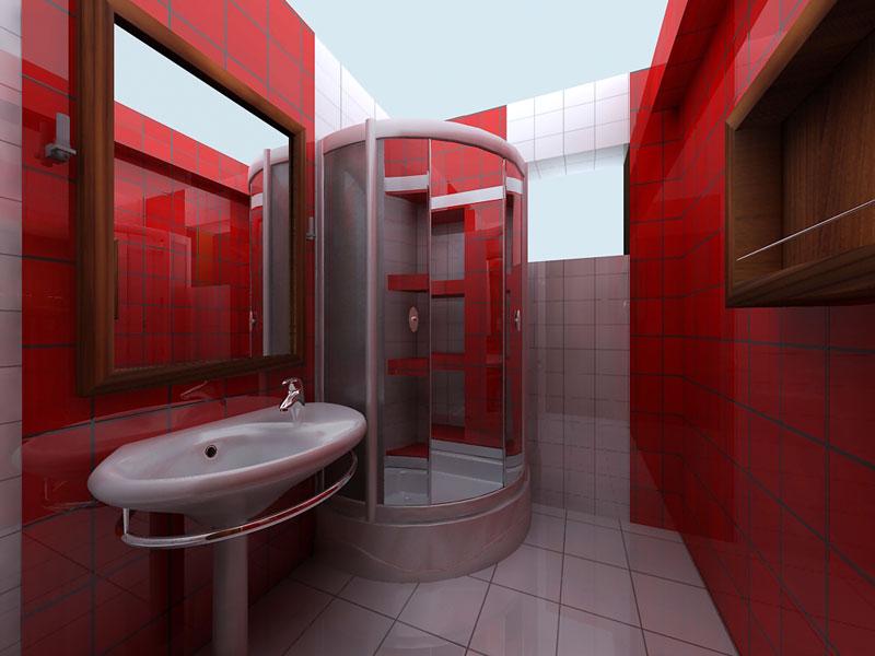 Дизайн ванной комнаты с душевой кабиной 2