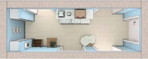 план дизайна коридора