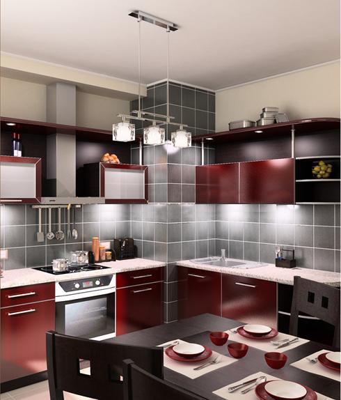 дизайн кухни 9 кв м фото №2