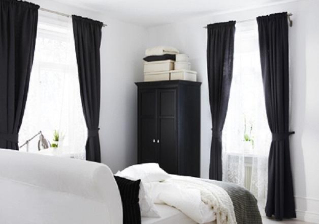 дизайн штор для спальни. Контраст