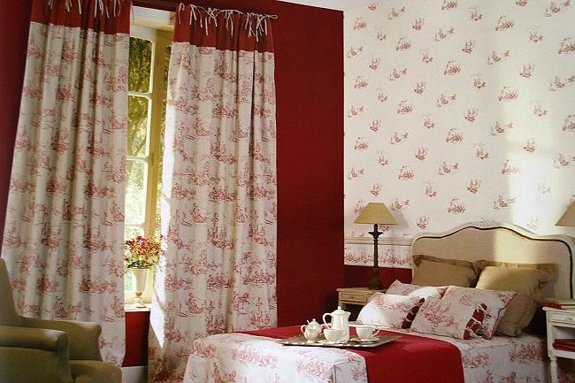 дизайн штор для спальни. Принт