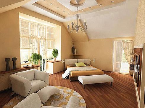 дизайн спальни гостиной 1