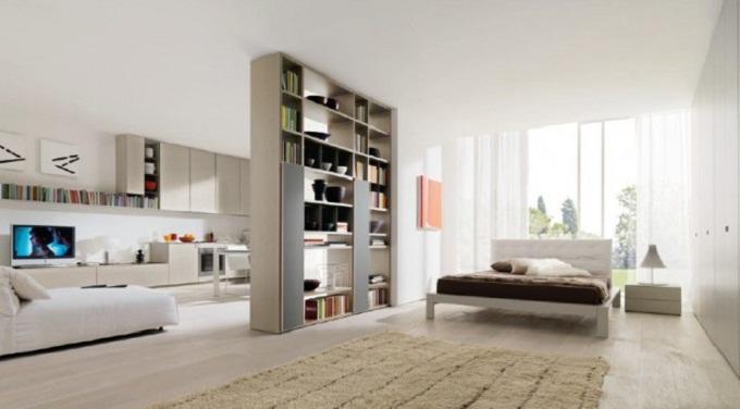 дизайн спальни гостиной 5