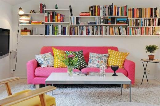 интерьер гостиной в маленькой квартире 3
