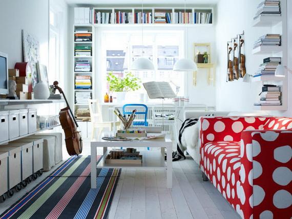 интерьер гостиной в маленькой квартире 5
