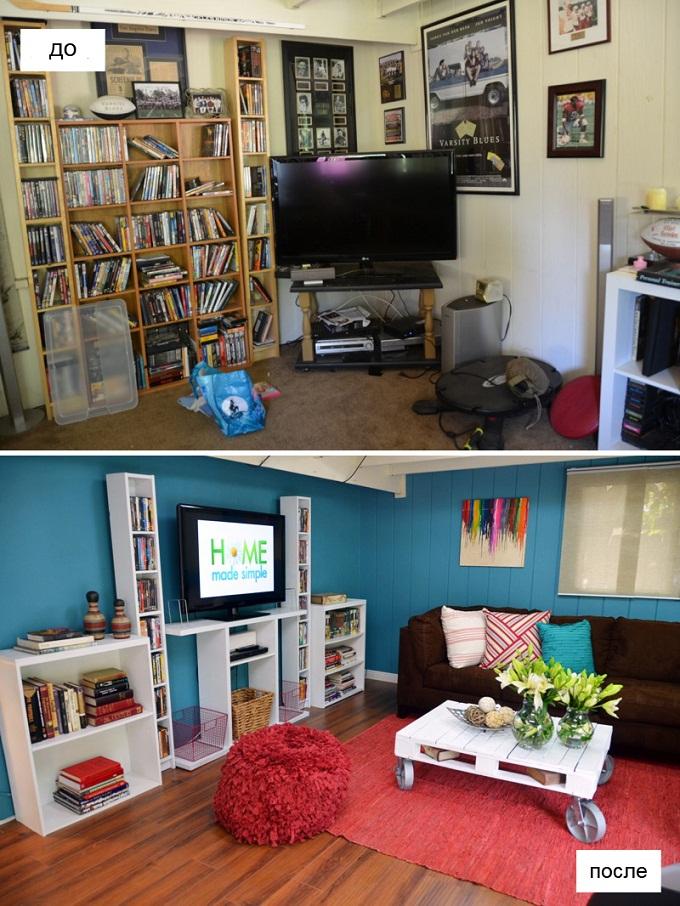 ремонт комнаты дизайн до и после - 1