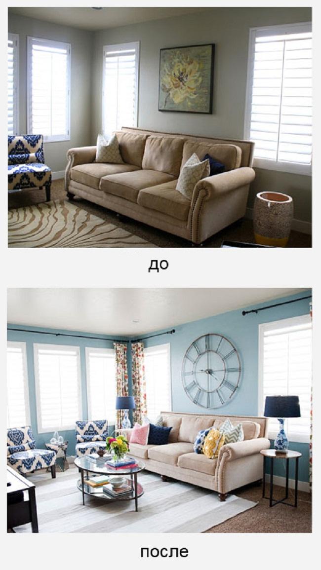 ремонт комнаты дизайн до и после - 5