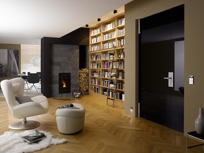 Дизайн квартиры студии с камином