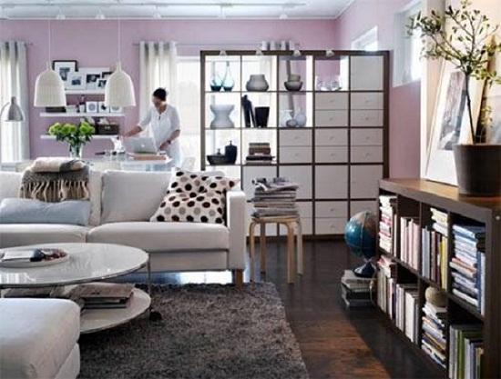 Дизайн квартиры студии с открытой мебелью