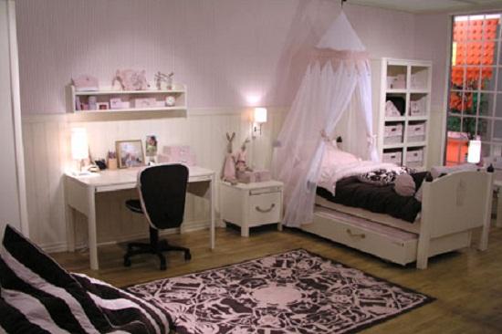 Дизайн комнаты: ремонт детской в черно-белом цвете