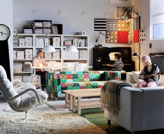 Строгий дизайн квартиры студии