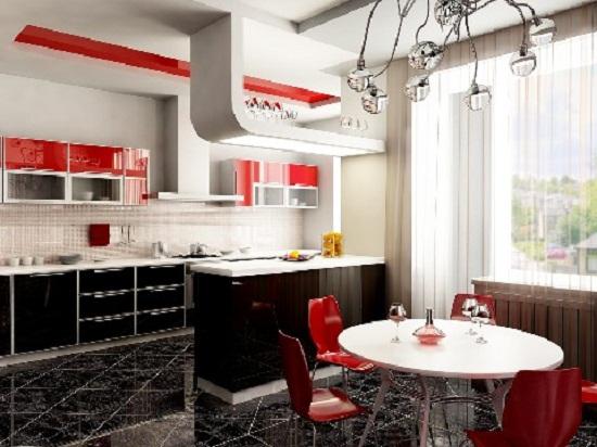 Дизайн кухни в стиле Хай-Тек и Модерн