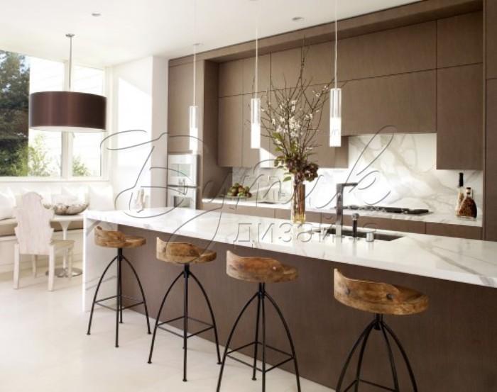 дизайн кухни с барной стойкой фото 1