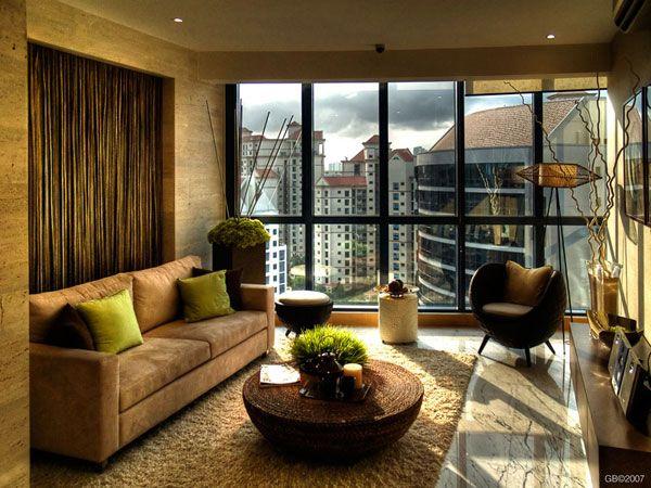 Дизайн комнаты. Фото с большим окном