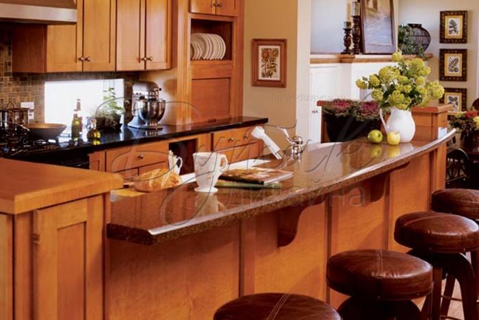 Фото 2 Дизайн кухни с барной стойкой