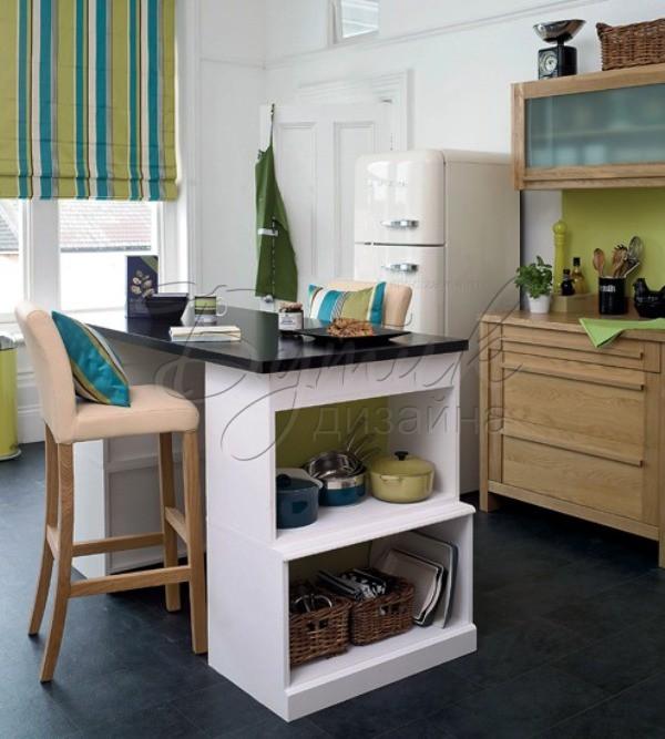 фото дизайна кухни с барной стойкой