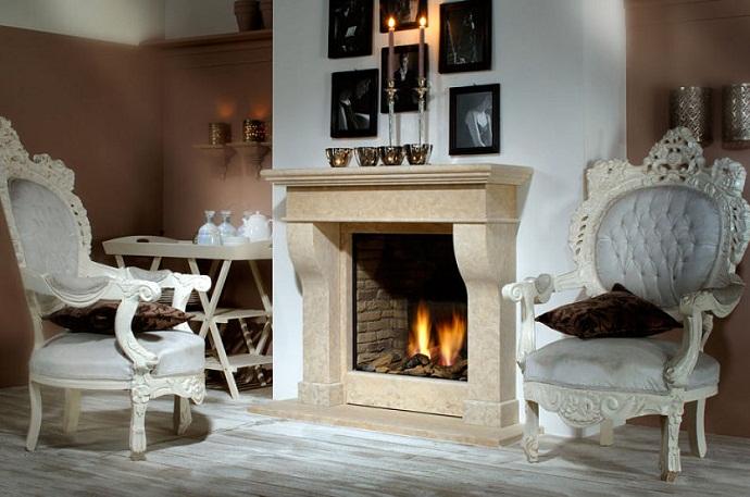 Дизайн гостиной с камином. Фото 1