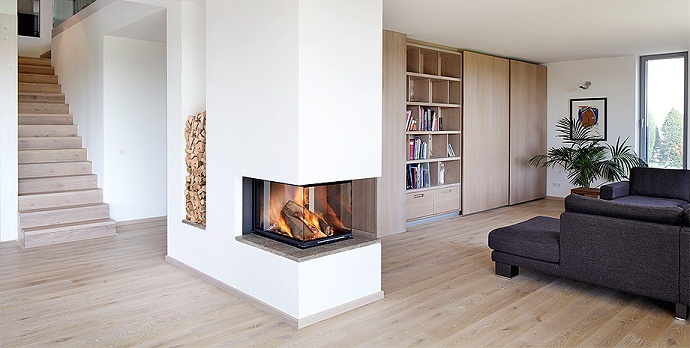 Дизайн гостиной с камином. Фото 2