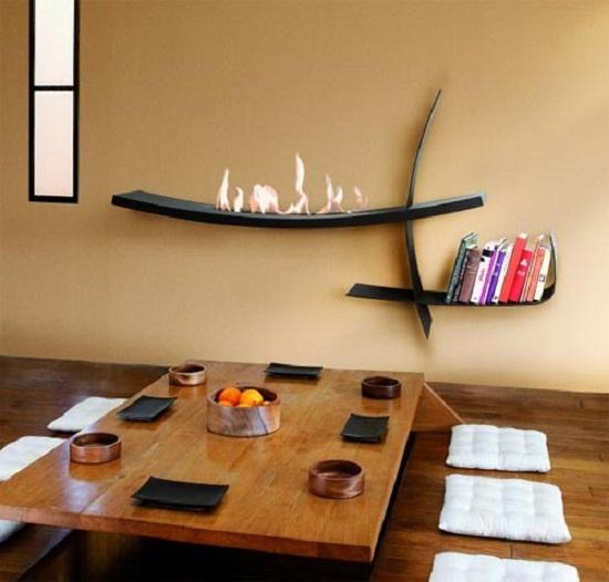 Дизайн гостиной с камином. Фото 6