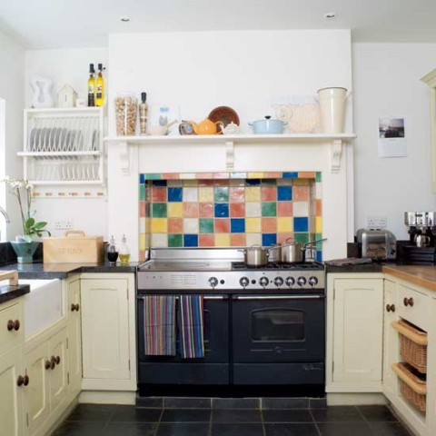 Дизайн плиты на кухне в стиле Кантри