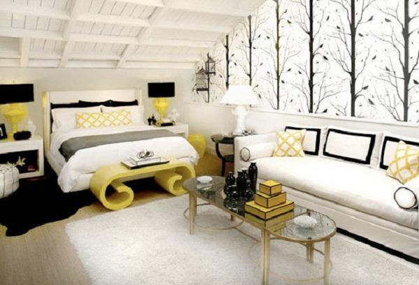 Дизайн комнаты в мансарде
