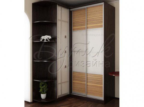 Дизайн углового шкафа в прихожей в панельном доме