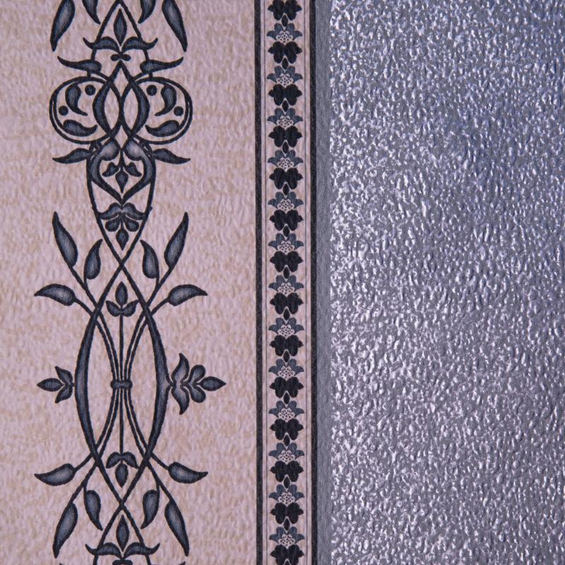 Обои Леруа Мерлен 13 Обои бумажные, 0,53х10 м, полосы, серый Престиж 2103