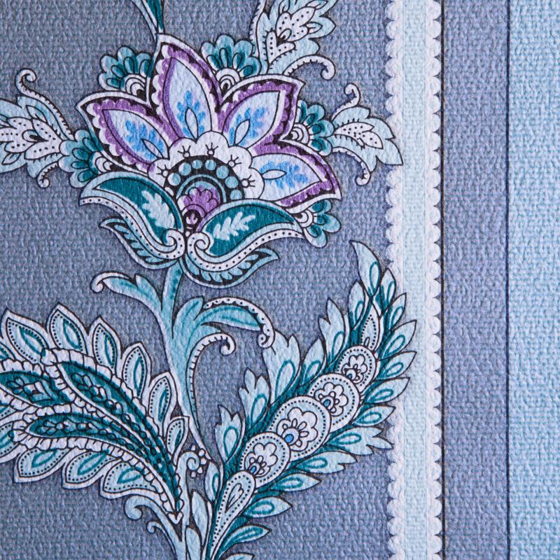Обои в Леруа Мерлен бумажные, 0,53х10 м, Финифть, полосы, голубой 82
