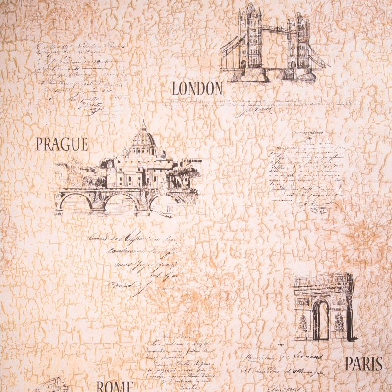 Каталог обоев Леруа Мерлен Обои бумажные, 0,53х10 м, Вояж 01, бежевый