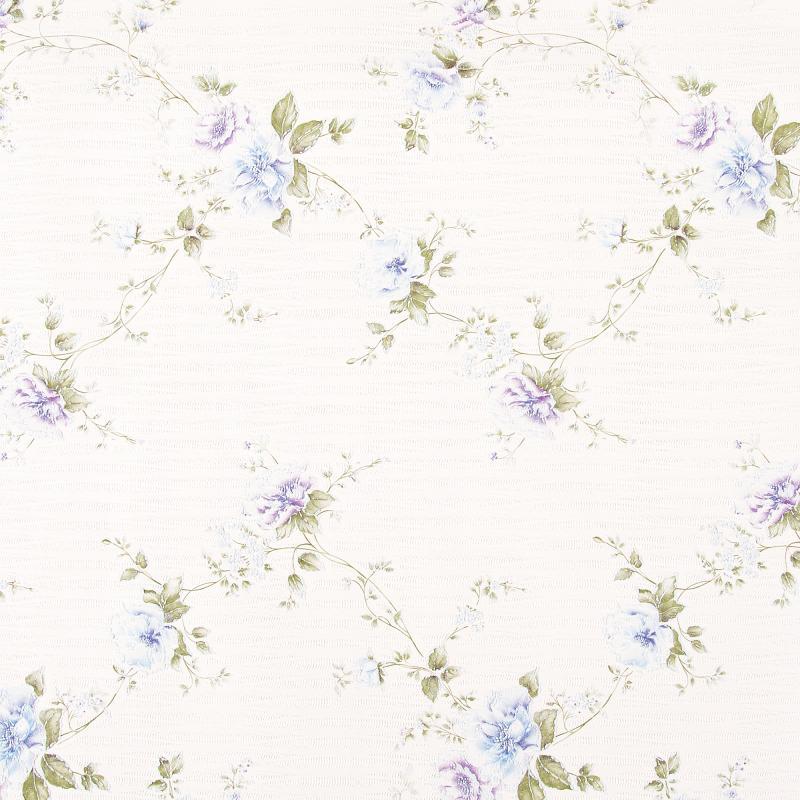 Леруа Мерлен Обои бумажные, 0,53х10 м, розы, голубой Феодосия 01